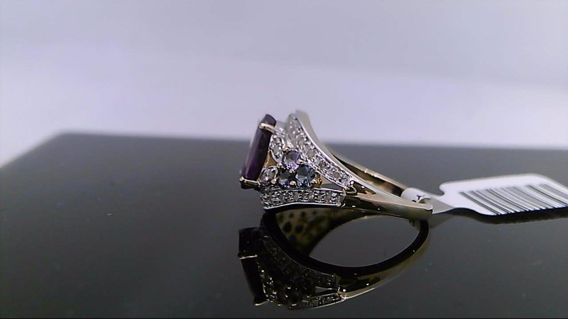 Blue Topaz Lady's Stone & Diamond Ring 34 Diamonds .170 Carat T.W.