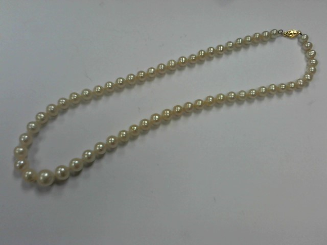 Pearl Stone Necklace 14K Yellow Gold 31.2g