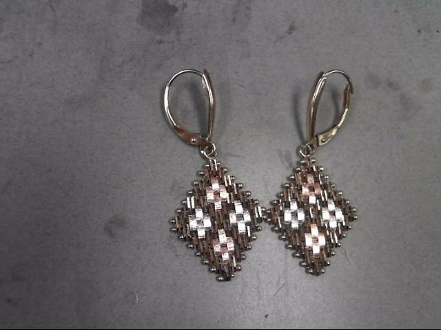 Gold Earrings 14K Tri-color Gold 4.93g