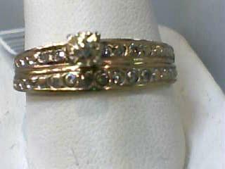 Lady's Diamond Wedding Set .05 CT. 14K Yellow Gold 2dwt Size:12