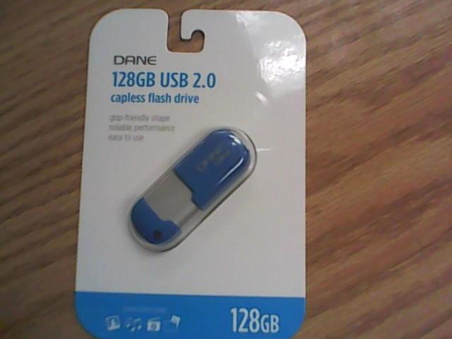 DANE Computer Accessories 128GB USB 2.0 CAPLESS FLASH DRIVE