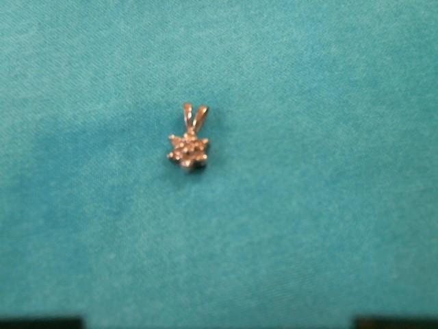 Gold-Multi-Diamond Pendant 14 Diamonds .70 Carat T.W. 10K White Gold 0.4dwt