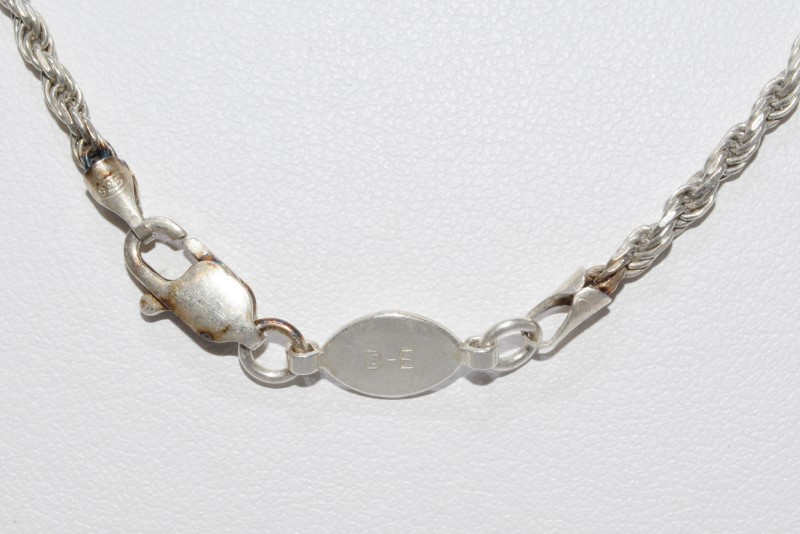 """24"""" Sterling Silver 2mm French Rope Chain Necklace"""