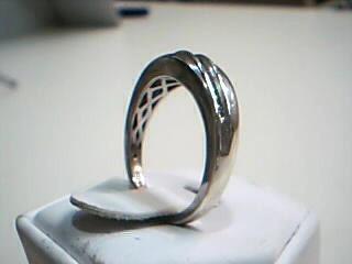 Gent's Silver-Diamond Ring 19 Diamonds .38 Carat T.W. 925 Silver 3.8g