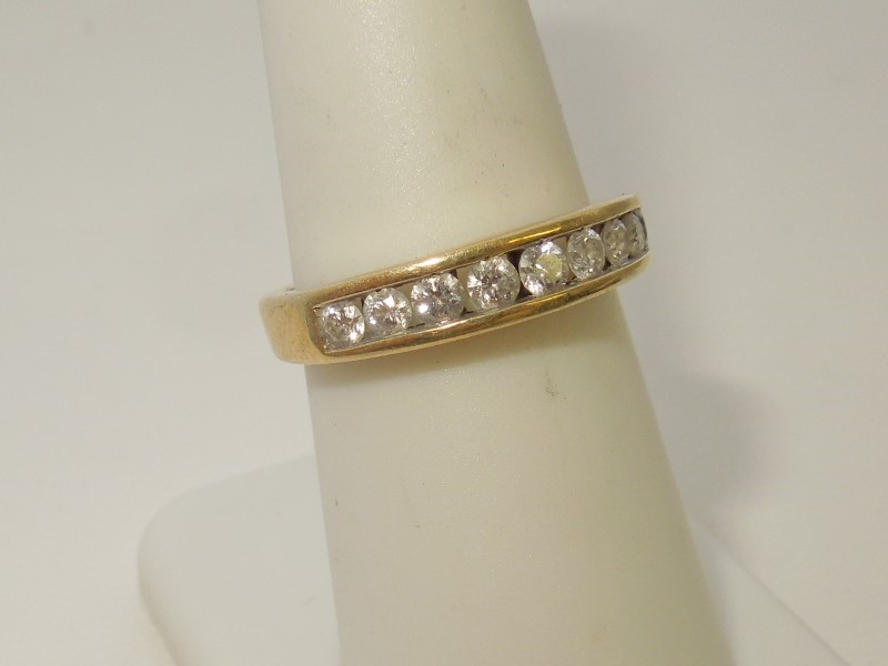 Lady's Diamond Fashion Ring 9 Diamonds .45 Carat T.W. 14K Yellow Gold 3.6g