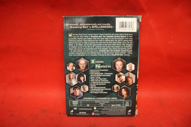 Breaking Bad: The Complete Second Season (DVD, 2010, 4-Disc Set)