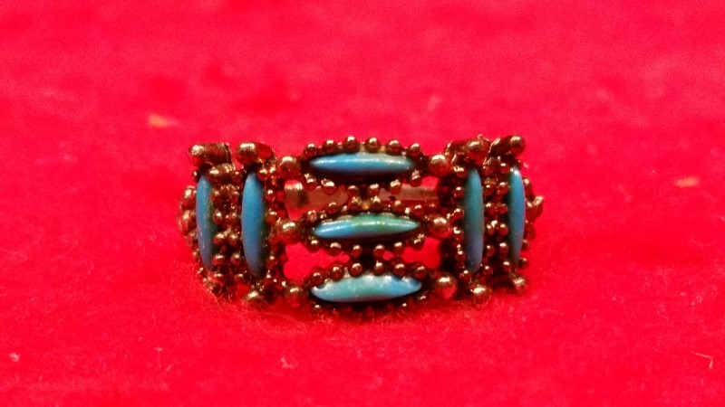 Native American Indian Lady's Silver Ring 925 Silver 4.4g Size:6