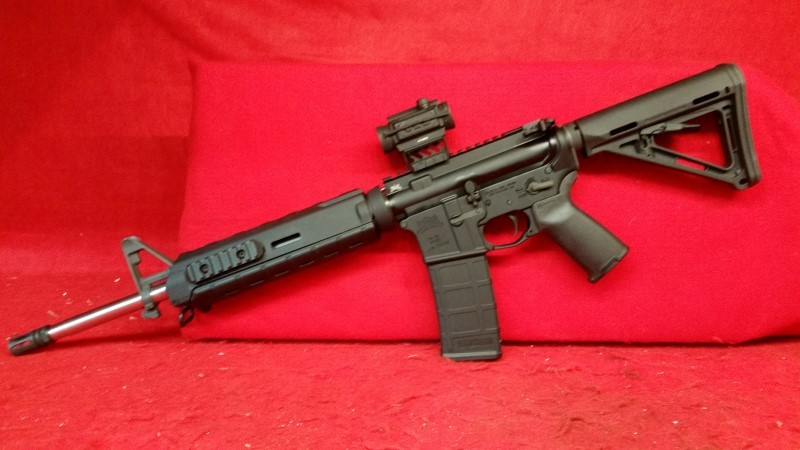 Palmetto State Armory Mid-Length AR15 5.56/223 Black Spider Red Dot