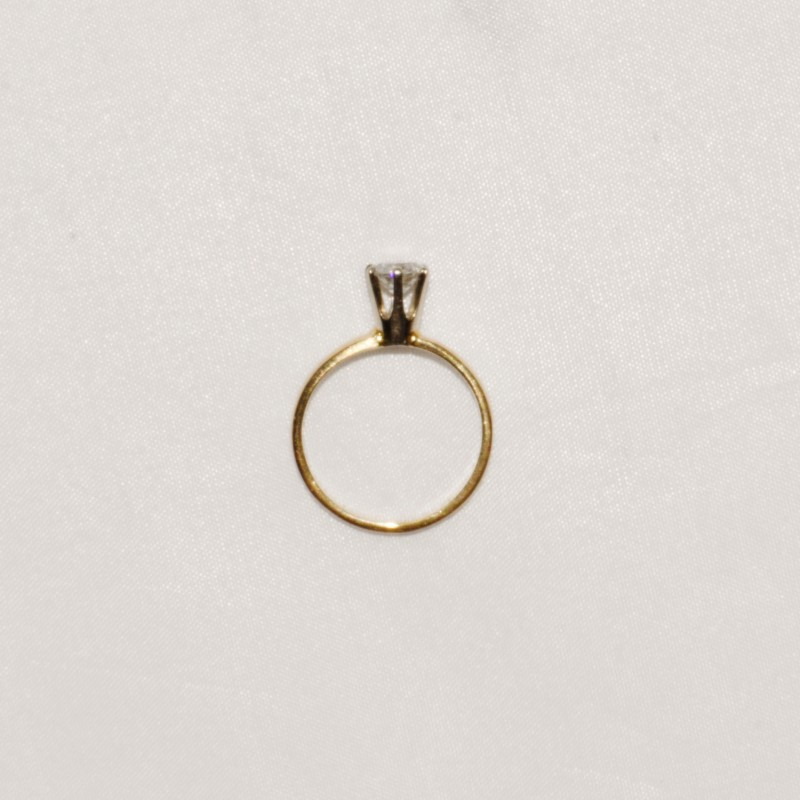 Lady's Diamond Solitaire Ring .65 CT. 14K Yellow Gold 2g