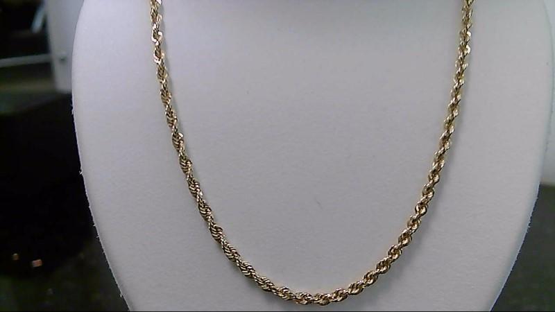 """20"""" 14K Yellow Gold Rope Chain 7.6G"""