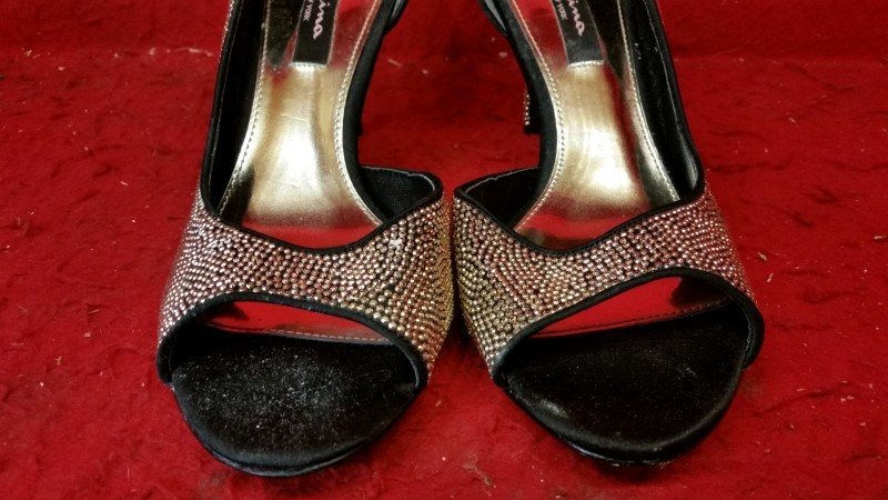 Nina New York Gold Dazzly High Heels 10M