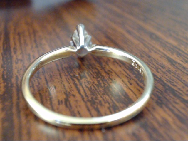 VINTAGE MARQUISE DIAMOND ENGAGEMENT RING SOLID REAL 14K GOLD SZ 8.25