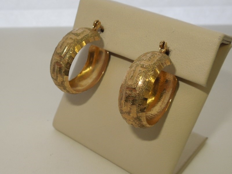 Gold Earrings 10K Yellow Gold 3.7g