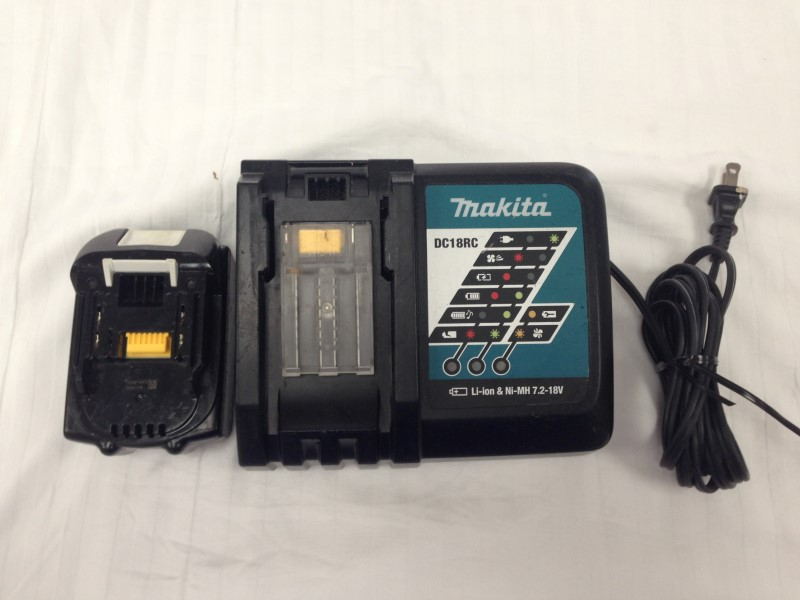 Makita DC18RC 18V Battery Charger w/ 18volt Battery