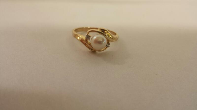 Lds 10K-Y/G Pearl Ring