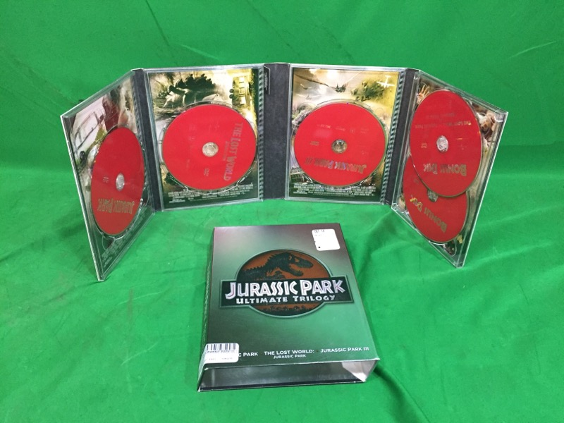 Jurassic Park Collection (DVD, 2011, 5-Disc Set) ULTIMATE TRILOGY