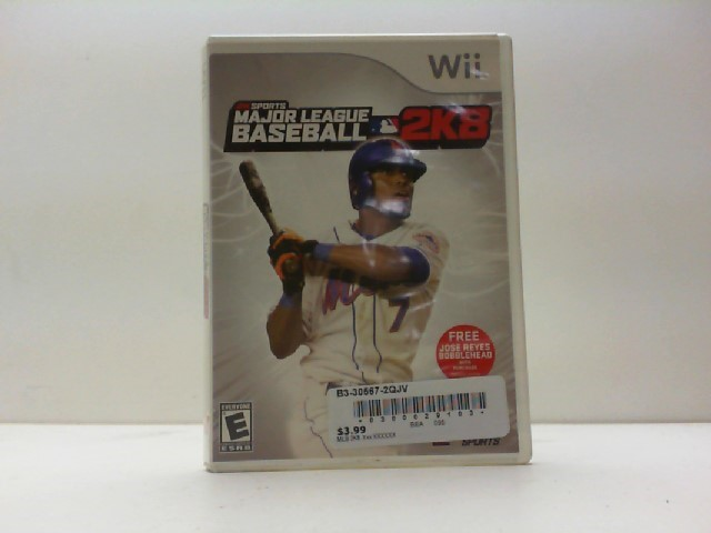 NINTENDO Nintendo Wii Game MAJOR LEAGUE BASEBALL 2K8 WII