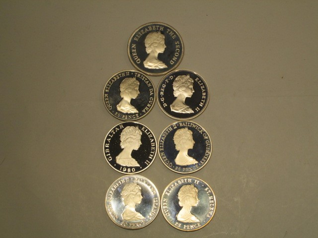 UNITED KINGDOM 1980 QUEEN MOTHER 7 COIN SET