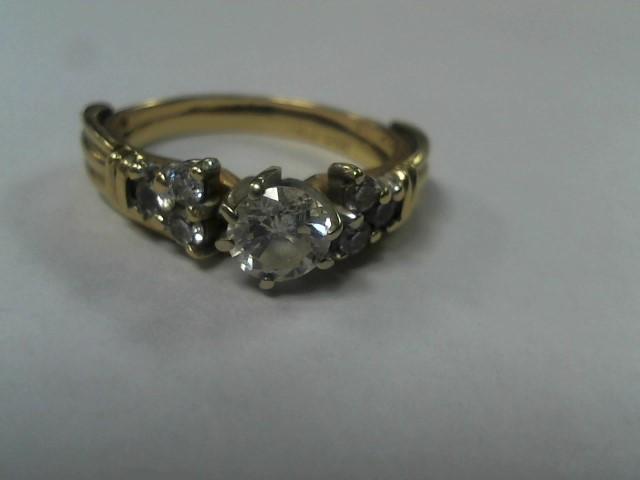 Lady's Diamond Wedding Set 7 Diamonds .80 Carat T.W. 14K Yellow Gold 4.5g