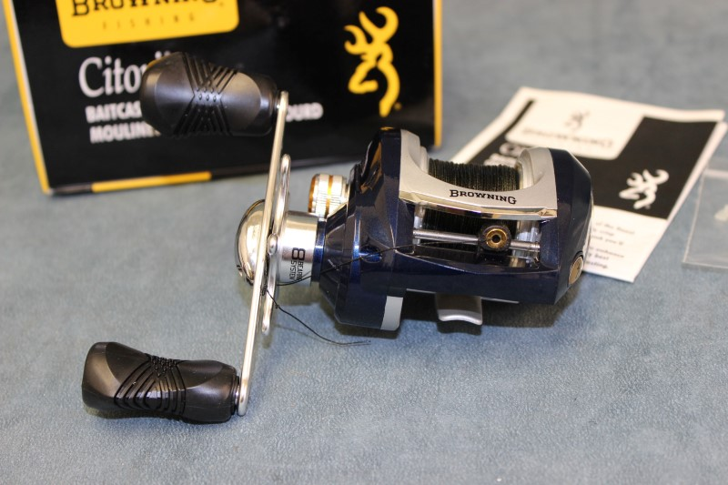 Browning citori baitcasting reel model ci20ha like new for Browning fishing reels