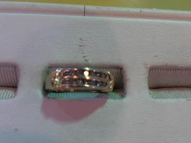 Lady's Diamond Fashion Ring 14 Diamonds .14 Carat T.W. 10K 2 Tone Gold 3.5g