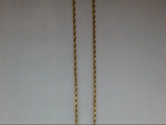 """22"""" Gold Rope Chain 14K Yellow Gold 10.6g"""