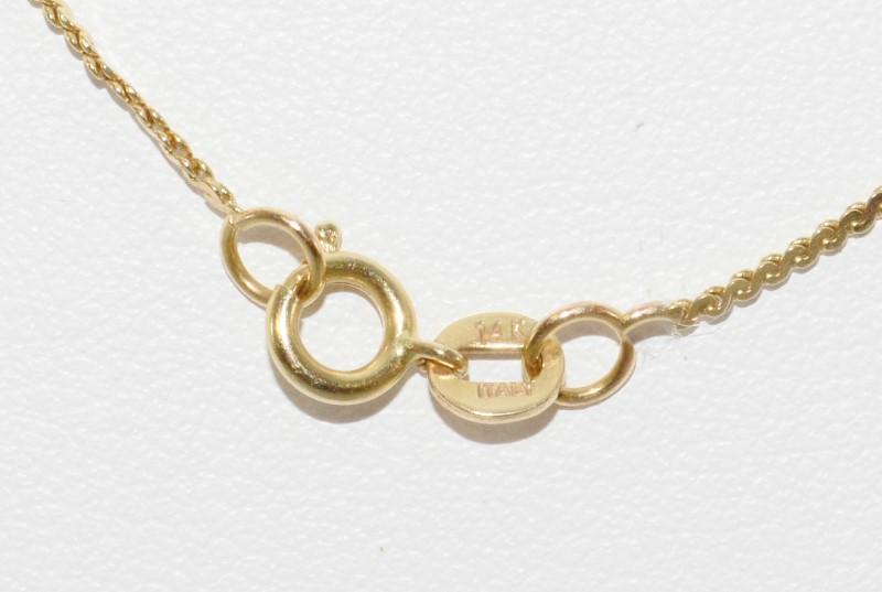 "16"" 14K Yellow Flying Mallard Duck Pendant Necklace on Italian Box Chain"