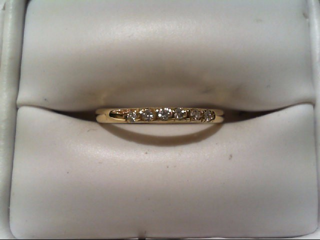 Lady's Diamond Wedding Band 6 Diamonds .06 Carat T.W. 14K Yellow Gold 1g