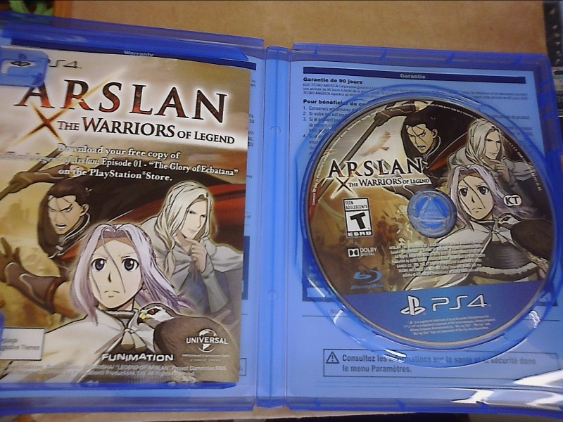 SONY PlayStation 4 Game ARSLAN THE WARRIORS OF LEGEND