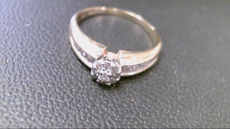 Lady's Diamond Cluster Ring 17 Diamonds .69 Carat T.W. 10K Yellow Gold 3.5g