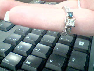 Blue Stone Lady's Stone & Diamond Ring 11 Diamonds .73 Carat T.W.