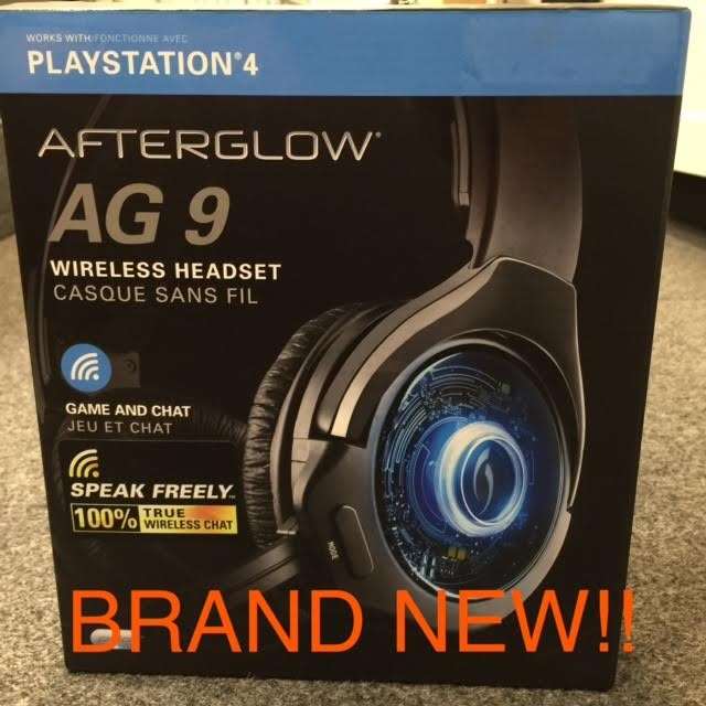 Afterglow AG 9 Wireless Stereo Sound Over-the-Ear Gaming Headset PS3 - Free Ship