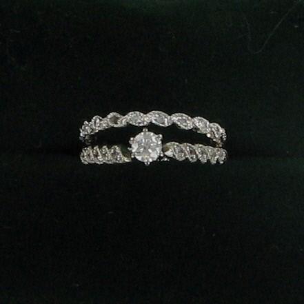 Lady's Diamond Wedding Set .20 CT. 14K White Gold 2.4dwt