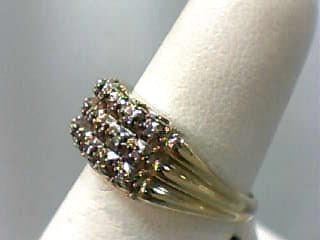 Lady's Diamond Fashion Ring 21 Diamonds .105 Carat T.W. 14K Yellow Gold 3dwt