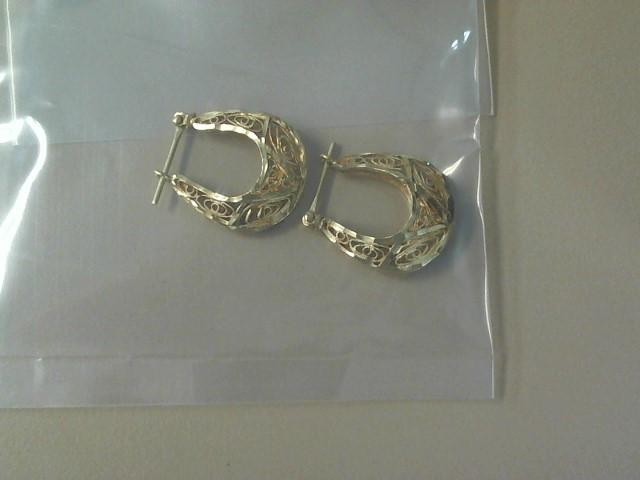 Gold Earrings 14K Yellow Gold 2.8dwt
