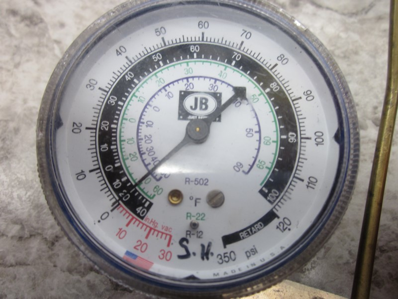 JB REFRIGERANT GAUGE SET, NO HOSES