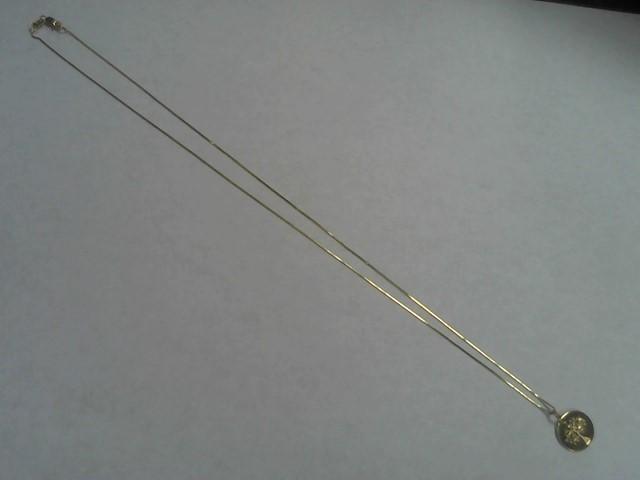 Gold Box Chain 14K Yellow Gold 2g w/charm