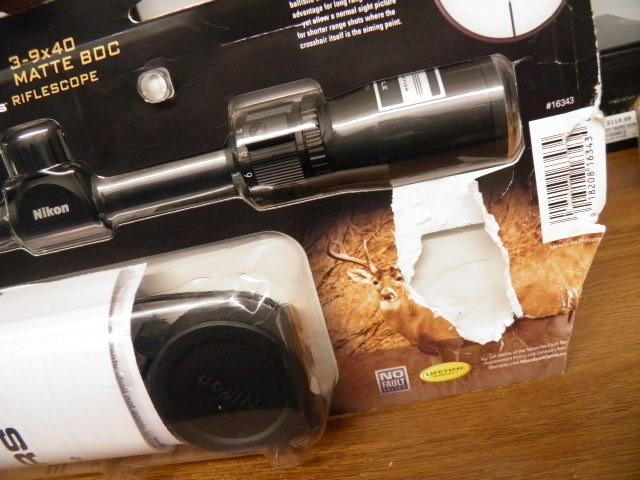 NIKON Firearm Scope 3-9X40 MATTE BDC