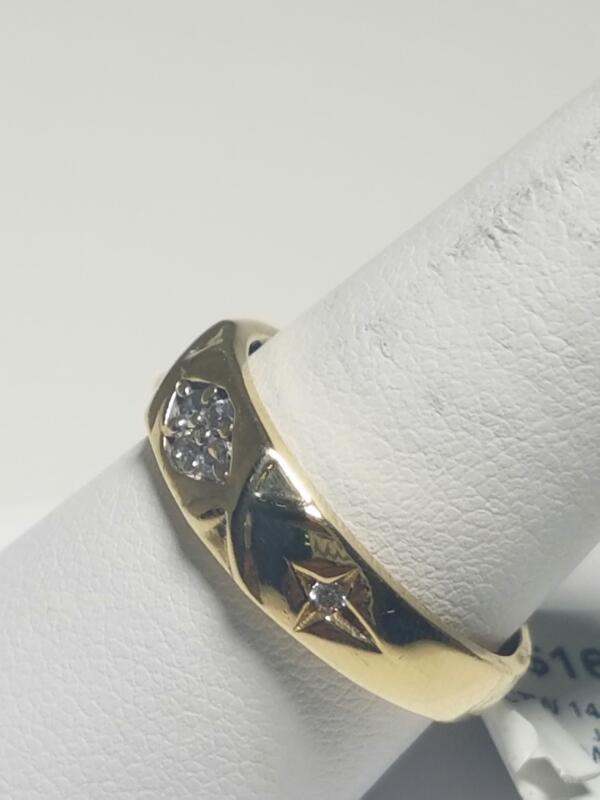 Lady's Diamond Fashion Ring 4 Diamonds .08 Carat T.W. 14K Yellow Gold 2.3dwt