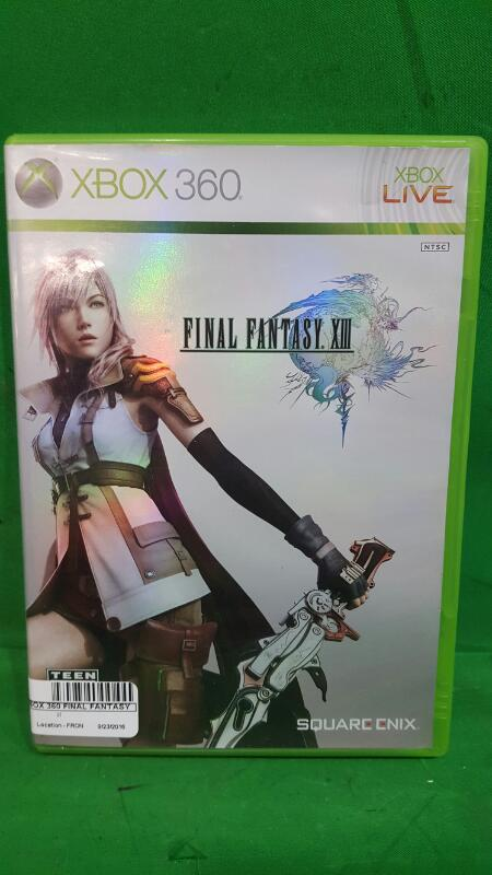 Final Fantasy XIII (Microsoft Xbox 360, 2010) 3 Disc Set + Instructions + Case
