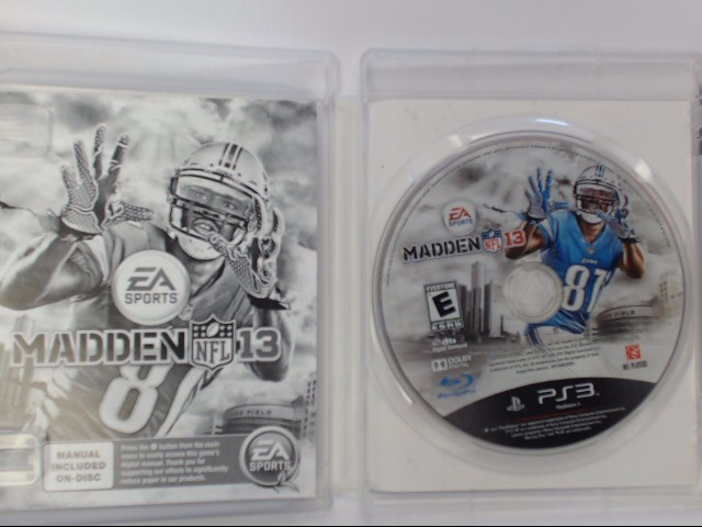 Sony PlayStation 3 Game MADDEN NFL 13 - PS3