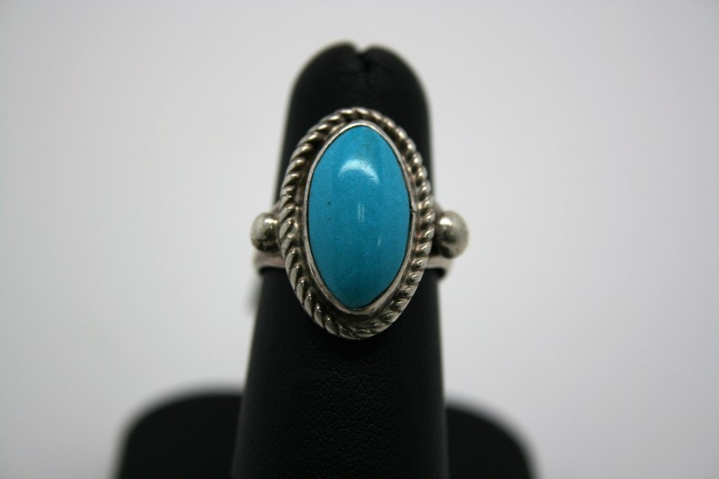 FASHION STYLE TURQUIOSE SILVER RING 5