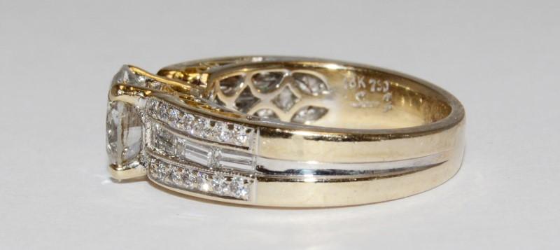 Diamond Wedding Set 1 Carat tw 18K White Gold Rings Size 6