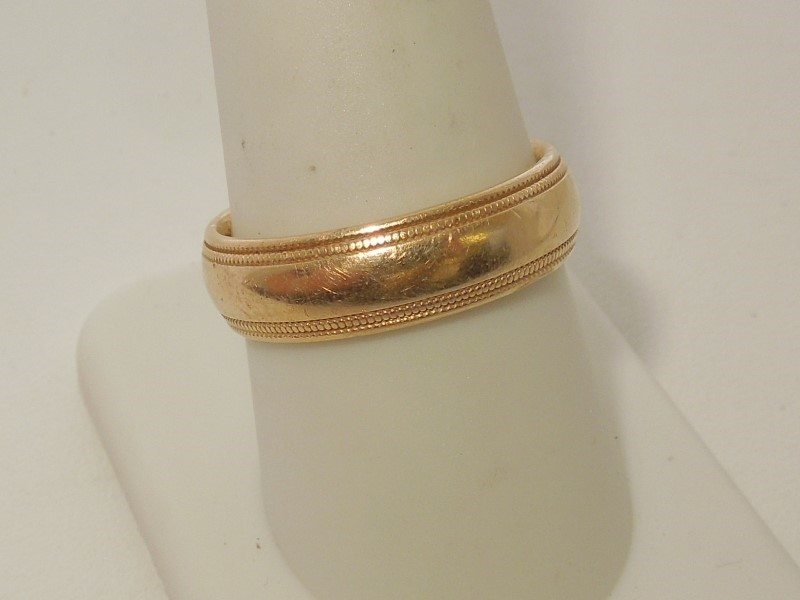 Gent's Gold Wedding Band 14K Yellow Gold 7.4g