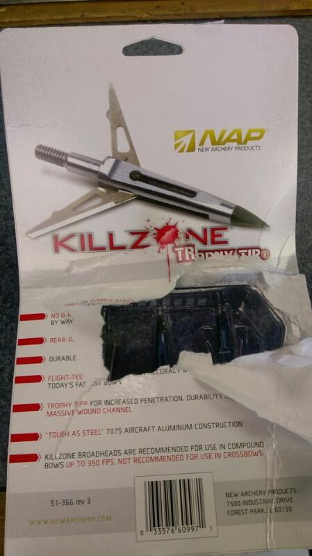 "NAP ARCHERY PRODUCTS Archery Accessory KILLZONE 2"" TROPHY TIP"