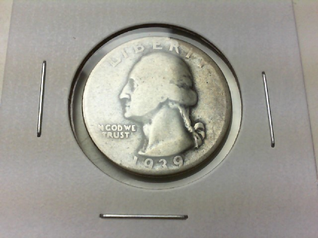 UNITED STATES Silver Coin 1939 WASHINGTON QUARTER