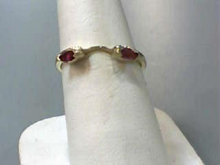 Ruby Lady's Stone Ring 10K Yellow Gold 1dwt Size:6.3