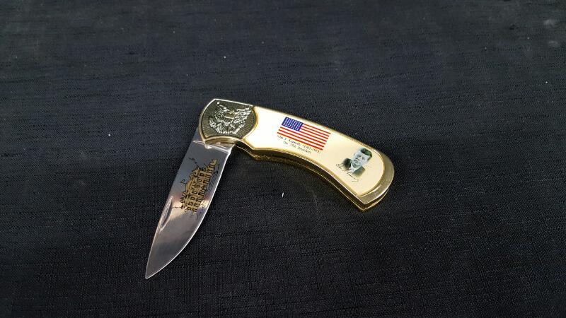 "4"" John F Kennedy Pocket Knife"