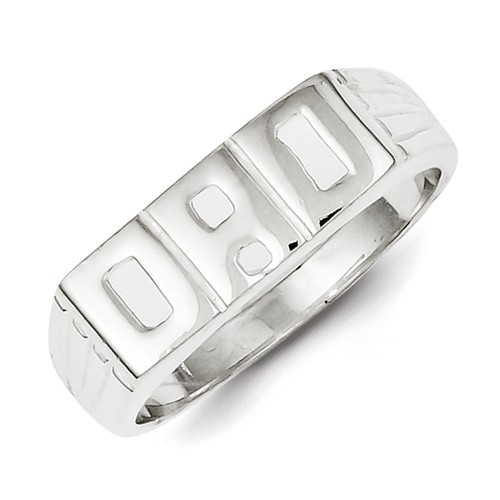 Gent's Silver Dad Ring 925 Silver 4.4g Size:10