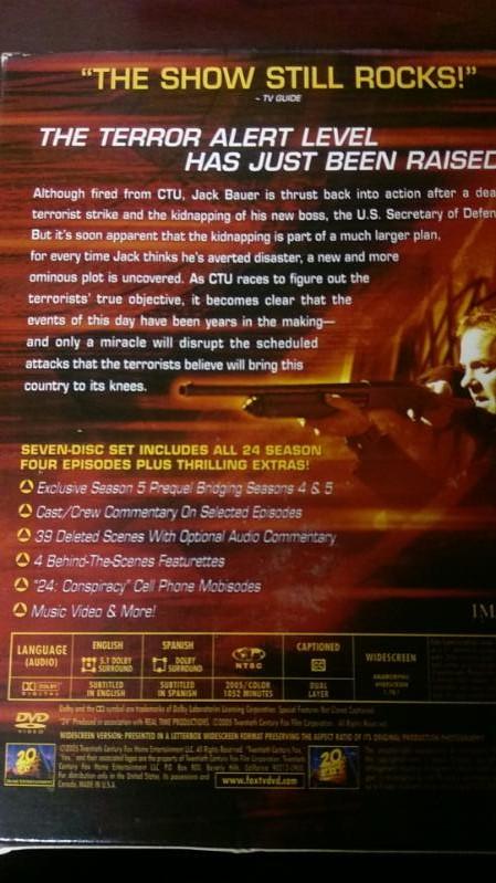 Season Four of the TV show 24 7 Disk DVD set